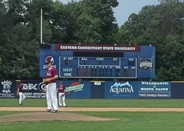 Tom Corey cruises in Dream Bat tournament opener as New England Ravens romp 9-1 over Triple Play All Stars at Eastern Connecticut State University 8/1/ 2014